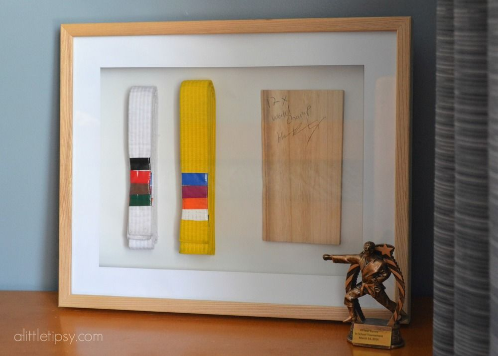 From Spooky to Sports | Karate belt display, Shadow box and Display