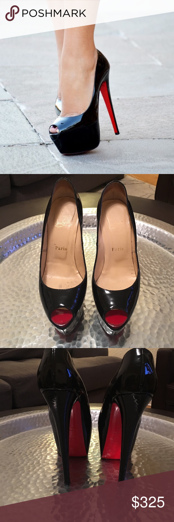 aaf6006f183 ️SALE 💯Christin Louboutin highness peep toe pump In good condition ...