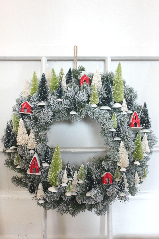 Mini Village Wreath Christmas Project