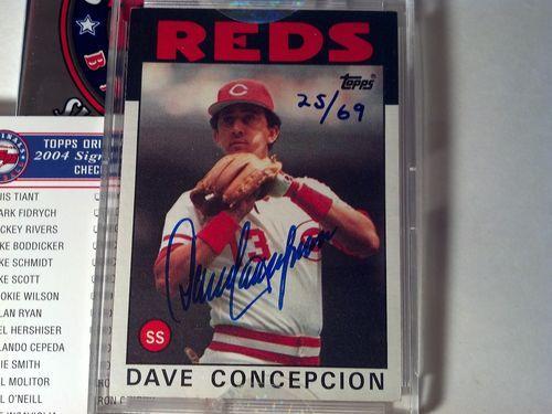 (2004) Topps Original Signature Edition DAVE CONCEPCION 25/69