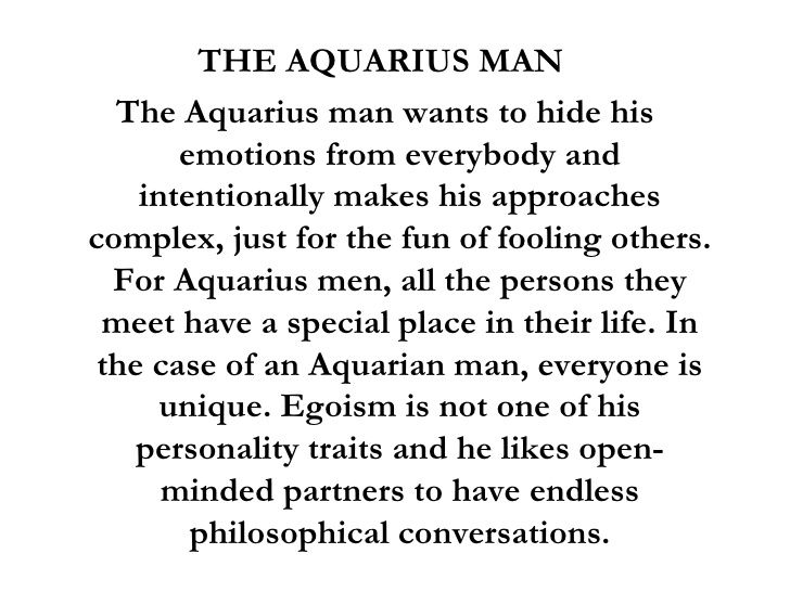 Aquarius man signs he loves you