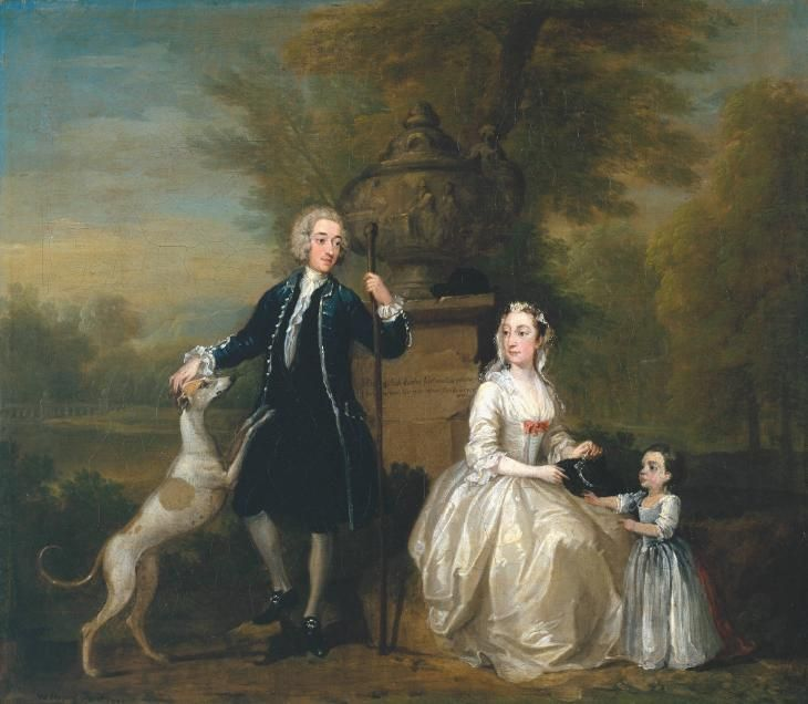 William Hogarth Ashley Cowper With His Wife And Daughter 1731