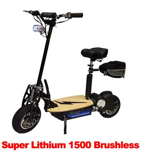 Super lithium 1500 brushless electric scooter super for Electric scooter brushless motor