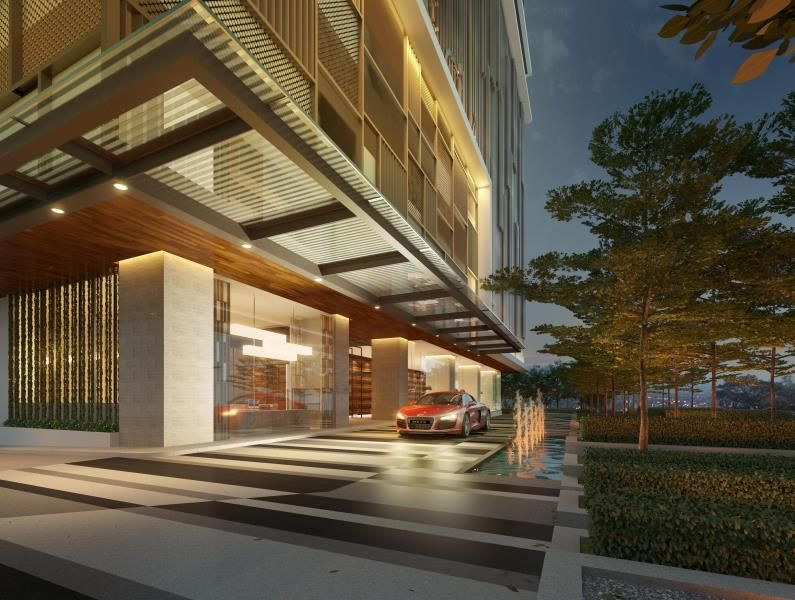Condominium entrance design google search entrance for Hotel entrance decor