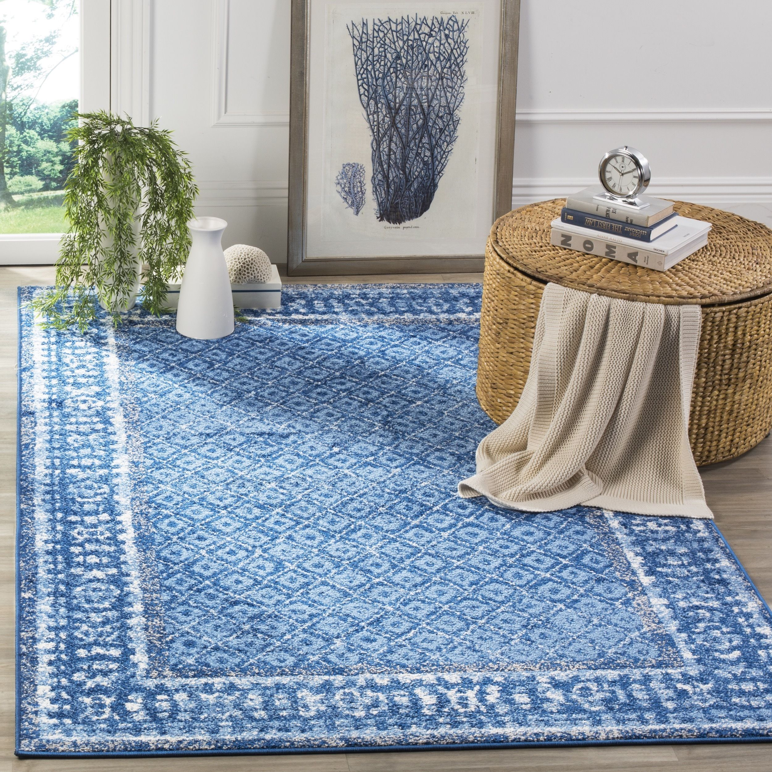 Safavieh Adirondack Vintage Light Blue Dark Rug 8 X 10