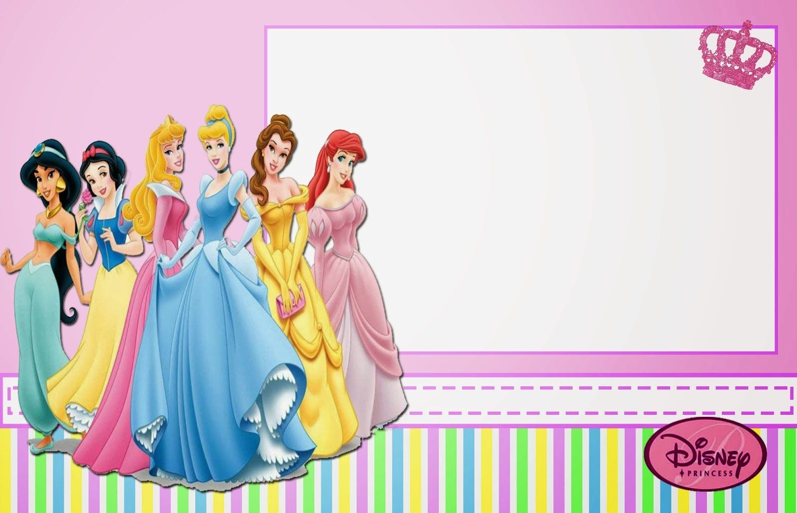 Disney Princess Free Printable Invitations, Cards or Photo Frames ...