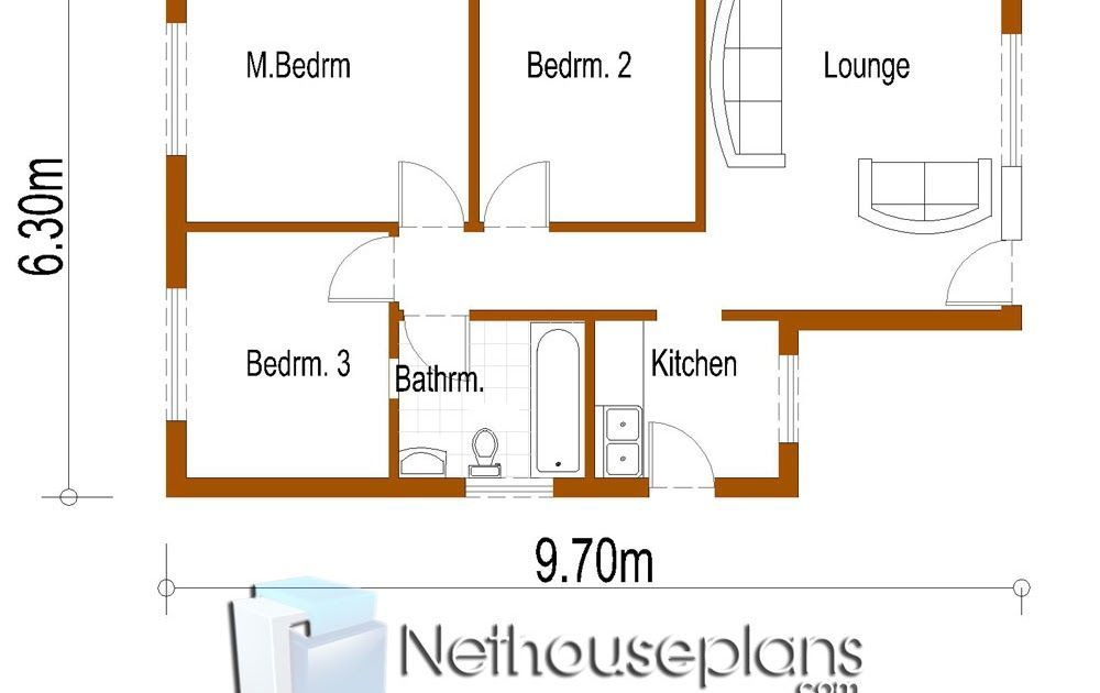 Lovely 3 Bedroom House Plans Zimbabwe 7 Solution Cottage Floor Plans House Plans Small Cottage House Plans