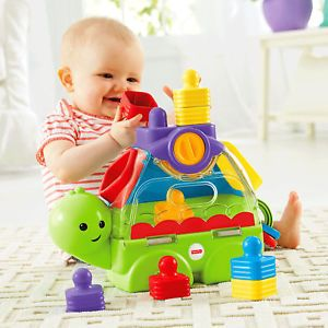 Fisher Price Little Stackers Sort N Spill Turtle Ad Gifts For