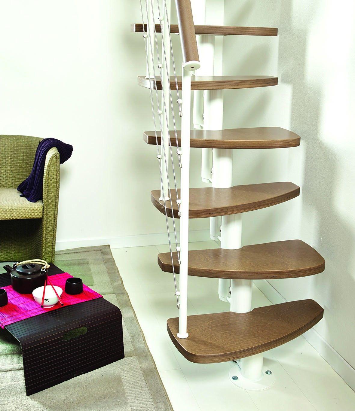Best Fontanot Zen Space Saving Stair Kit White Metal Work 640 x 480