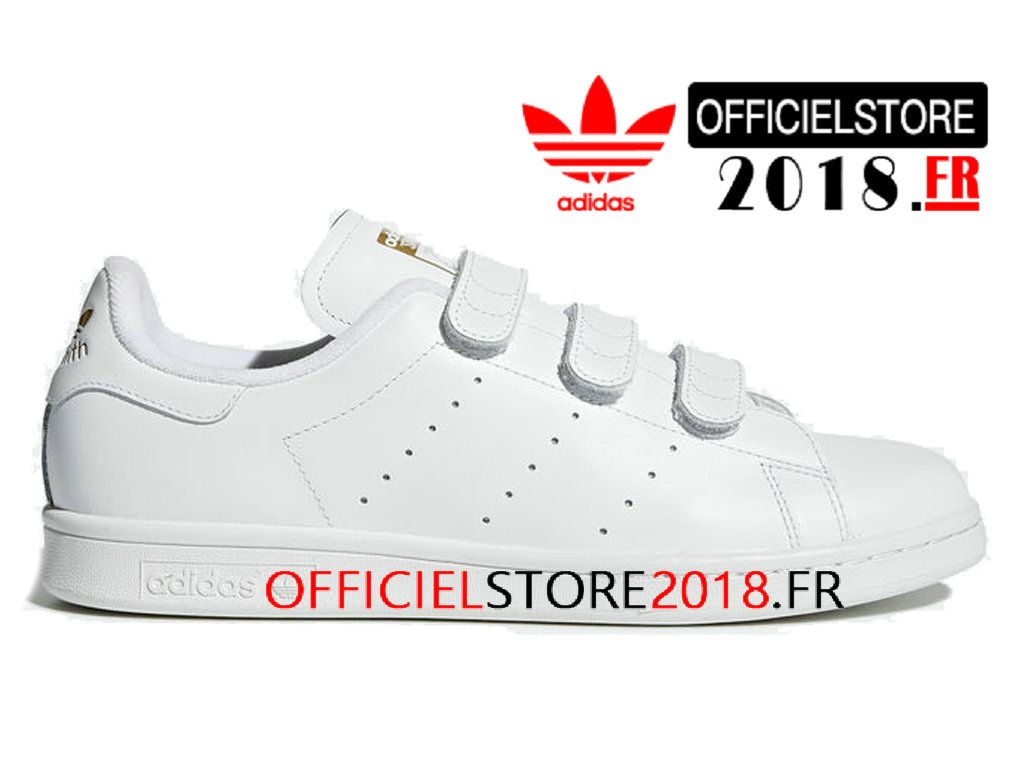new product 09279 8dc23 Adidas Homme Chaussure Originals Stan Smith CF Prix Pas Cher Blanc S75188- S75188-Adidas