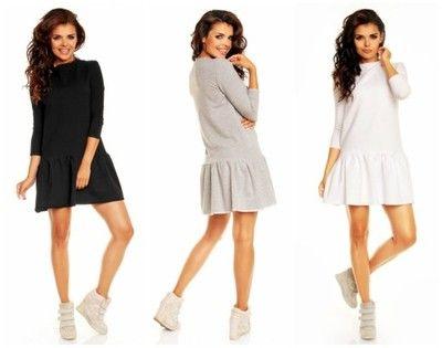 Sukienka Z Falbana W Sukienki Damskie Strona 2 Allegro Pl Fashion Dresses Dresses For Work