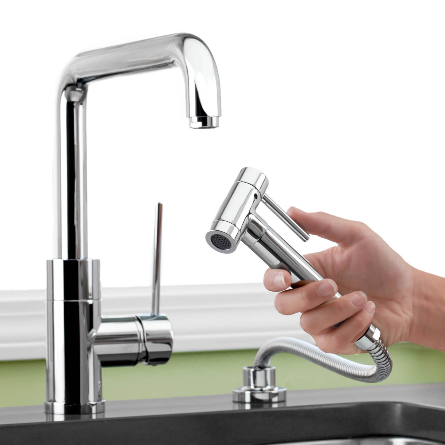 Purus I Single Handle Kitchen Faucet with Side Sprayer