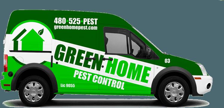 Green Home Pest Control Van Design