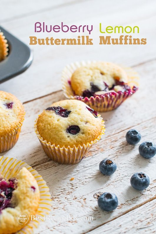 Blueberry Lemon Buttermilk Muffins For Breakfast Or Brunch Bestrecipebox Buttermilk Recipes Buttermilk Muffins Dessert Recipes Easy