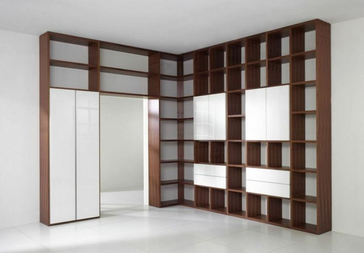 Wohnwand selber bauen kosten  Wohnwand selber bauen - Viele Regale bilden dieses attraktive ...