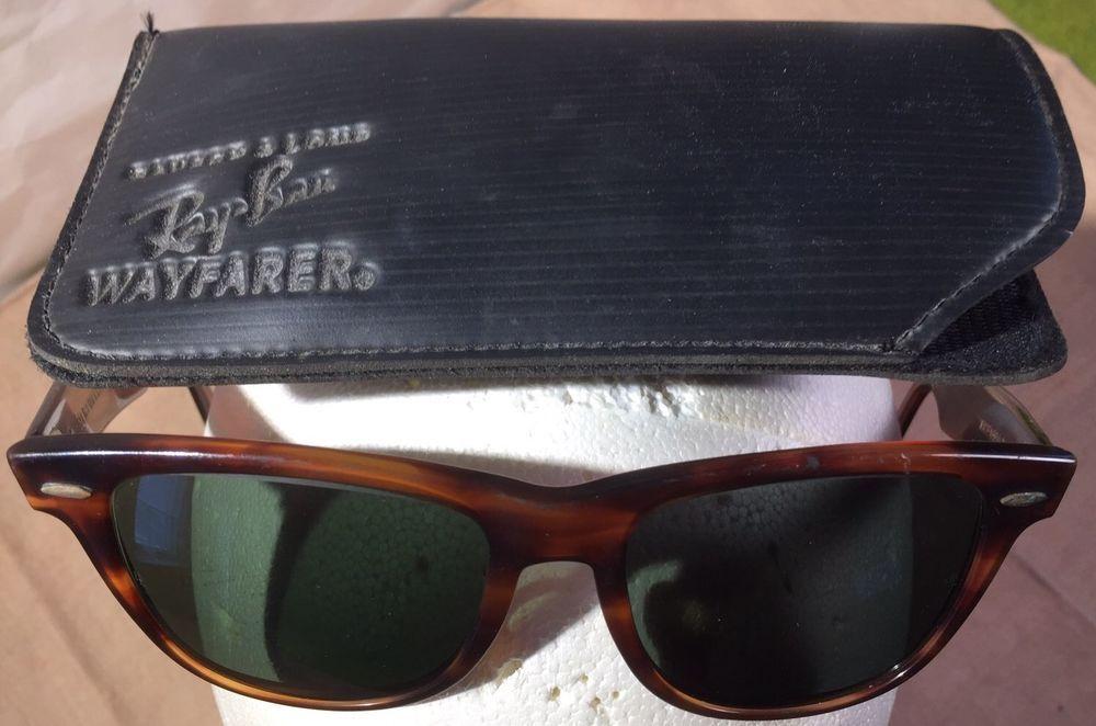 8bef649bdbe0d Vintage Ray Ban BL USA Wayfarer II Tortoise Shell Small Sunglasses Original  Case  BauschLomb  RayBanWayfarerII  Sunglasses