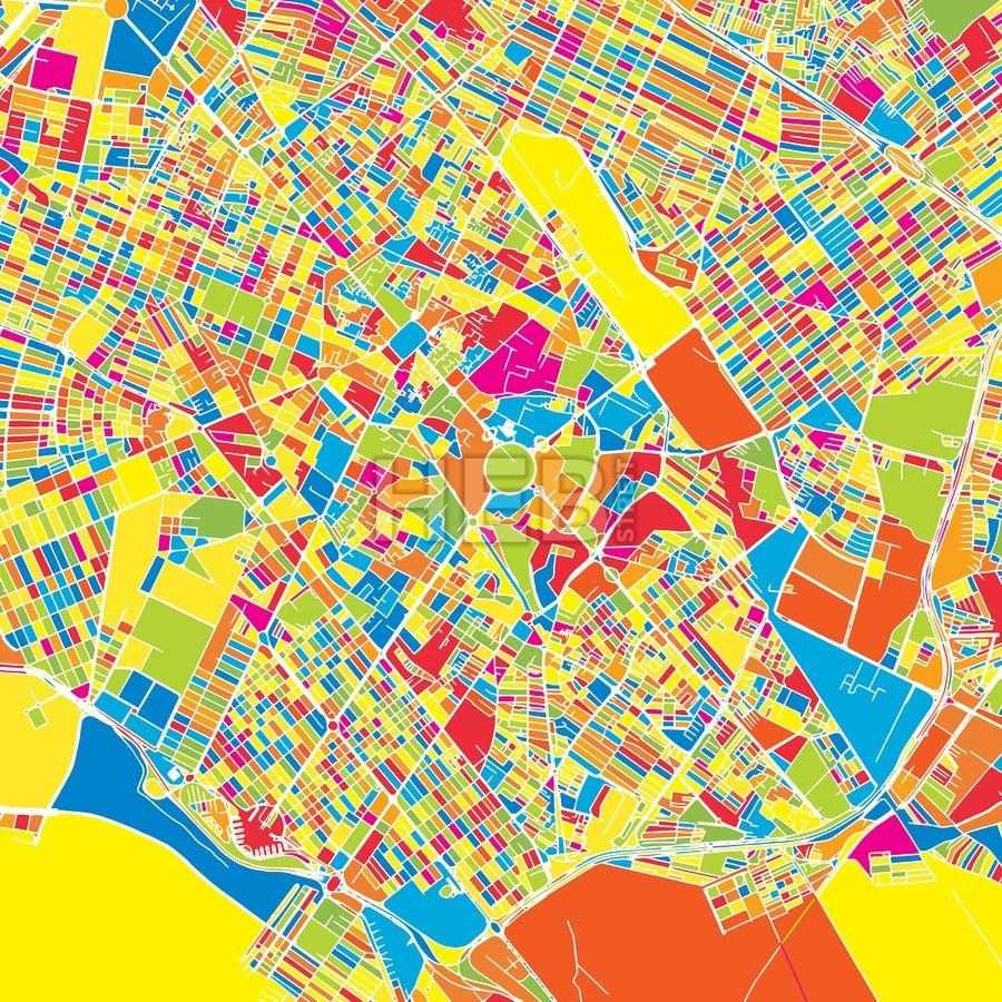 Mashhad Iran colorful vector map Iran