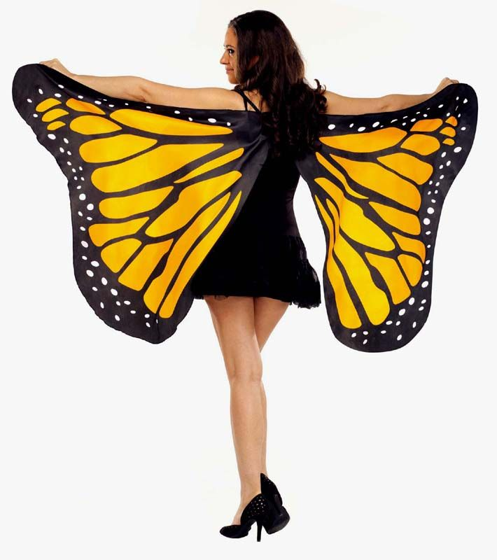 4e0b06d5e6a Orange Butterfly Costume Wings for Adults | Halloween | Butterfly ...