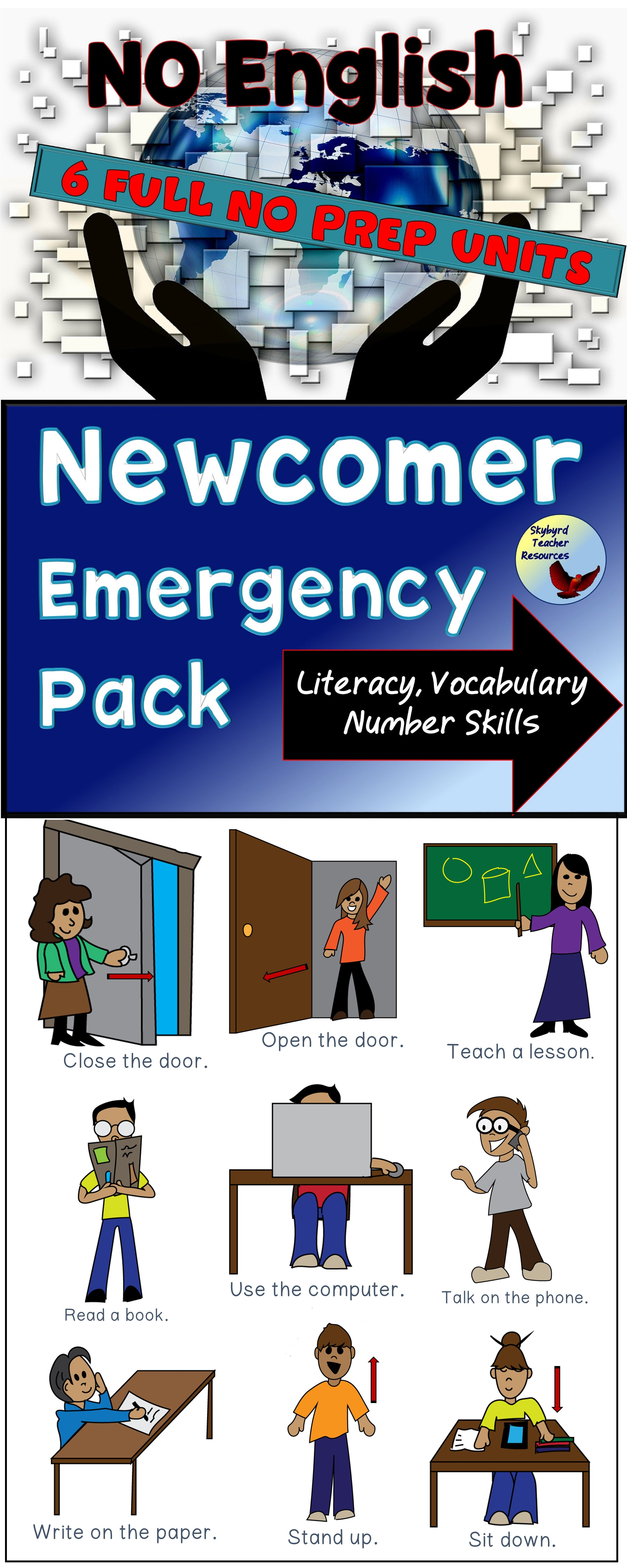 Esl Newcomers Activities Independent Work Packet 1