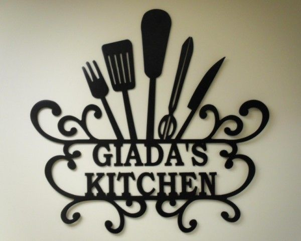 "Kitchen Wall Art Decor giada's kitchen"" - personalized kitchen wall art - kitchen wall"
