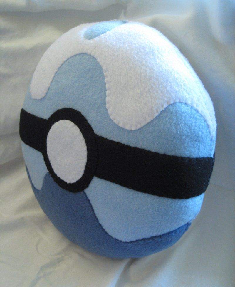 Dive Ball Pokemon Pillow by P-isfor-Plushes.deviantart.com on @DeviantArt