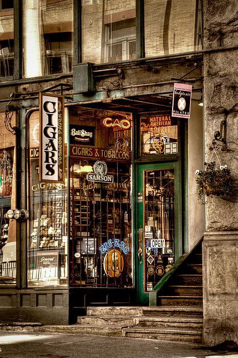 Seattle Cigar Shop II Photograph
