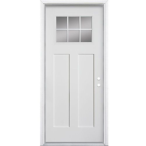 Create An Inviting Stylish Entryway With The Masonite Craftsman Fibreglass Entry Door Featuring Fiberglass Entry Doors Exterior Doors Masonite Interior Doors
