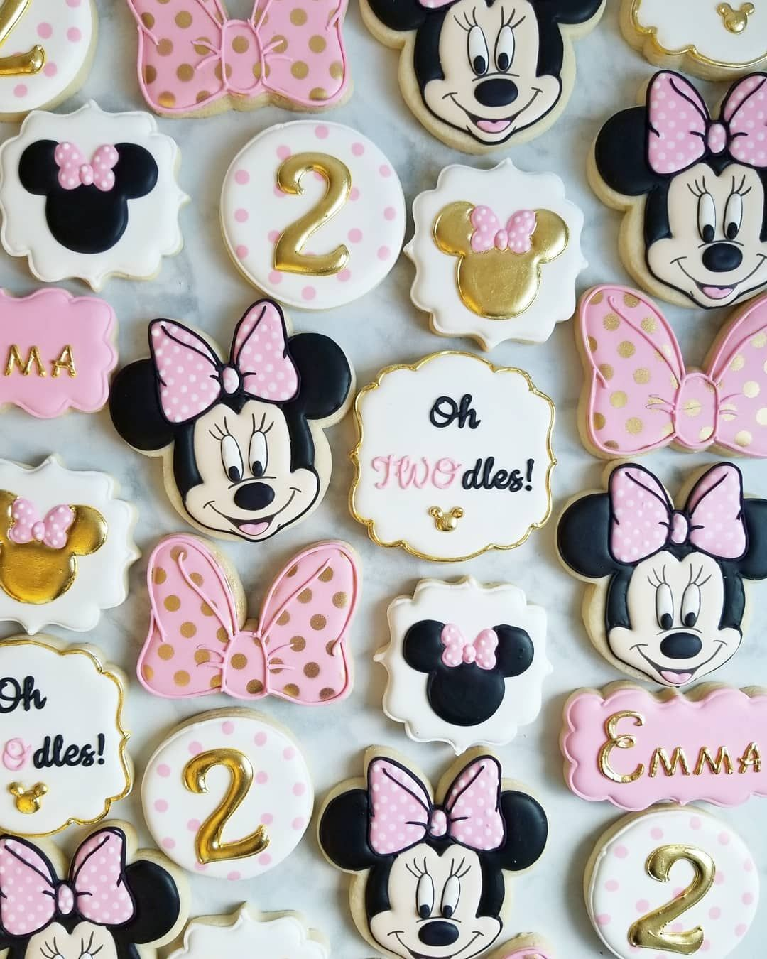 "Jessie Edwards on Instagram: ""Minnie Mouse cookies for a 2nd birthday! #decoratedcookies #yxecookies #minniemousecookies #customcookies"""