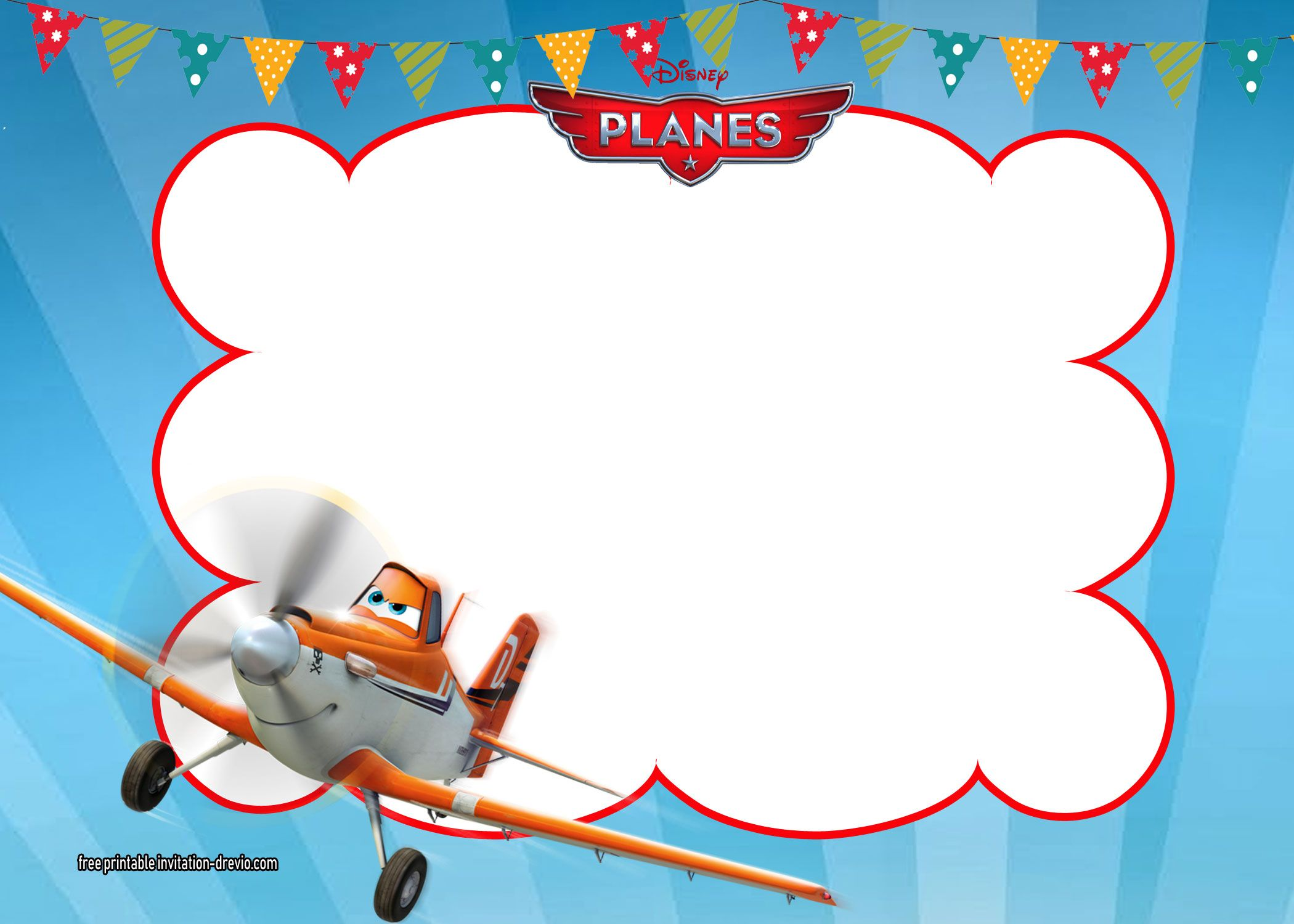 Cool Disney Planes Invitations Templates | Free Printable Birthday ...