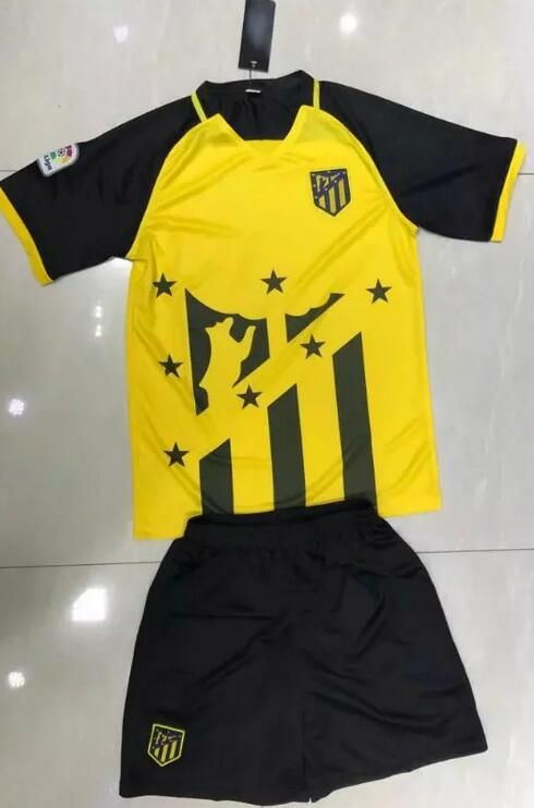 2017-18 Atletico Madrid Yellow Soccer Jerseys Uniform  a06a16914e6