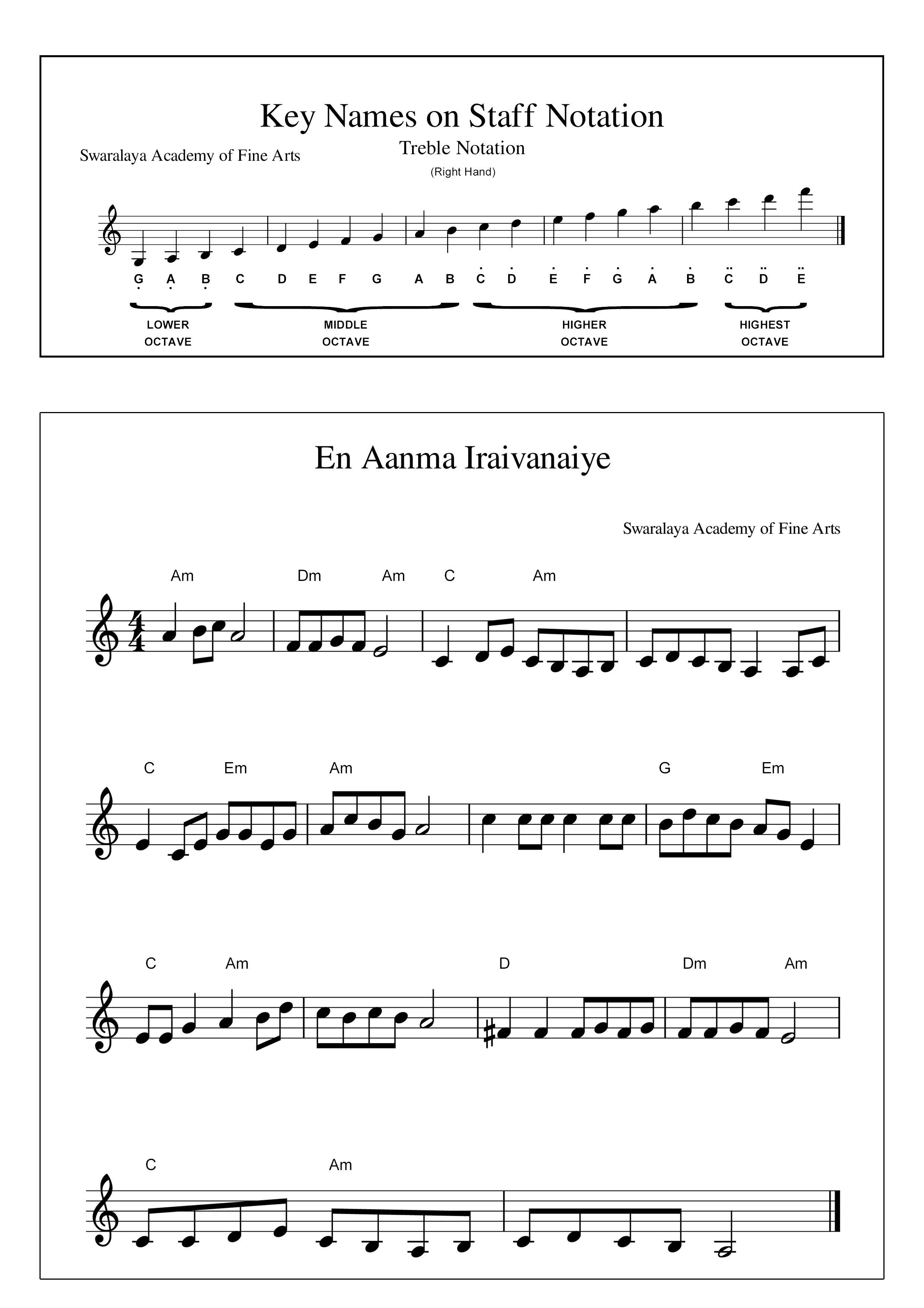 Piano Notes For Tamil Catholic Songs - Happy Living