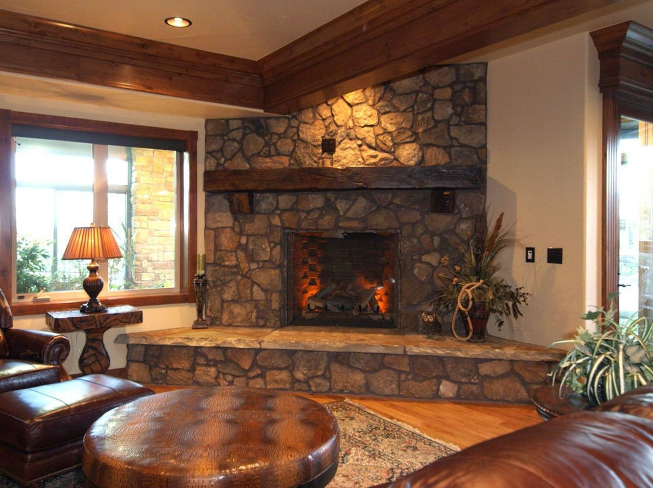 Antique Living Room Designs Entrancing Alluring Cultured Stone Fireplace Style Excellent Stone Fireplace Review
