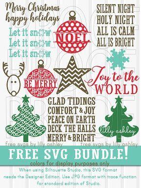 Download Free Christmas SVG Files Bundle | Christmas svg, Cricut ...