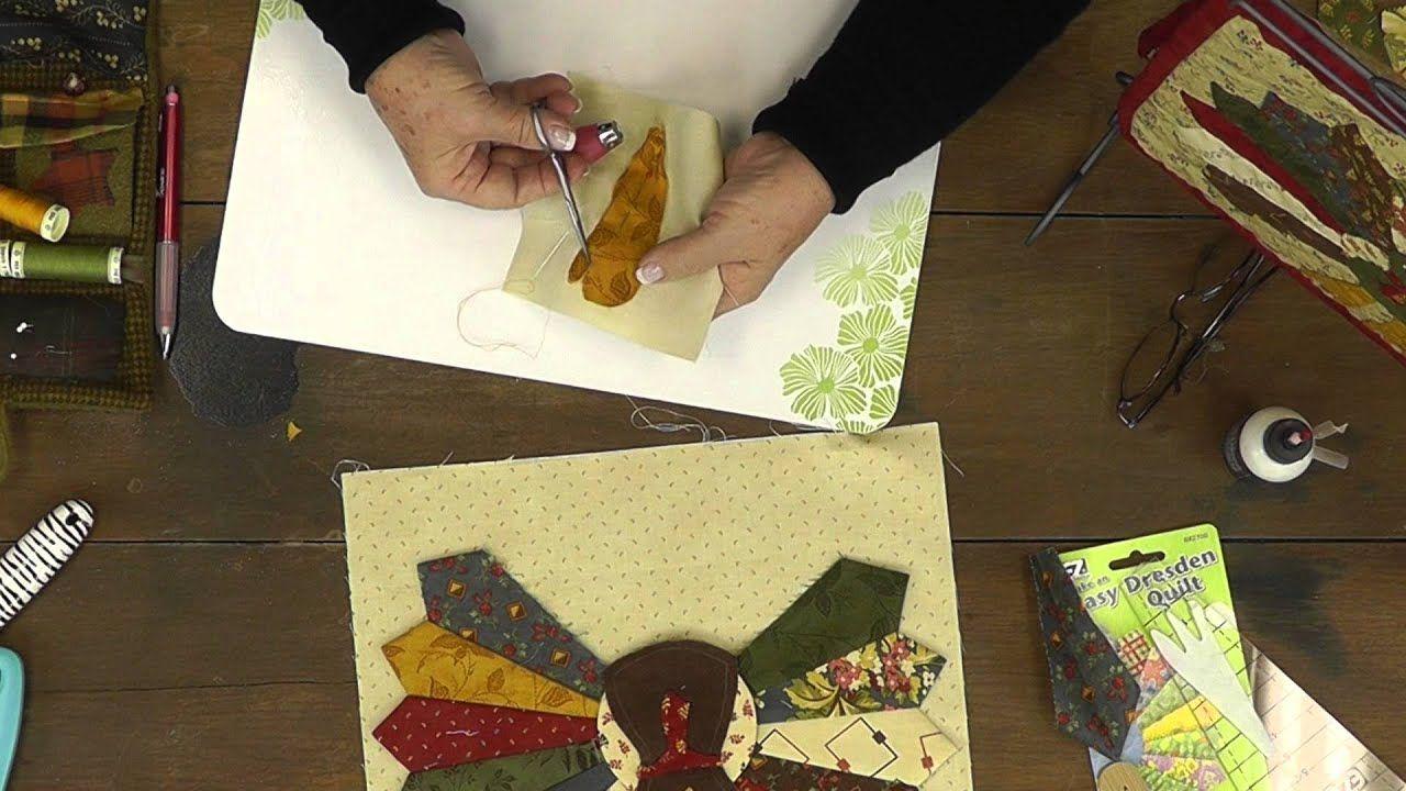 How to make a Dresden Turkey Applique with Jan Patek