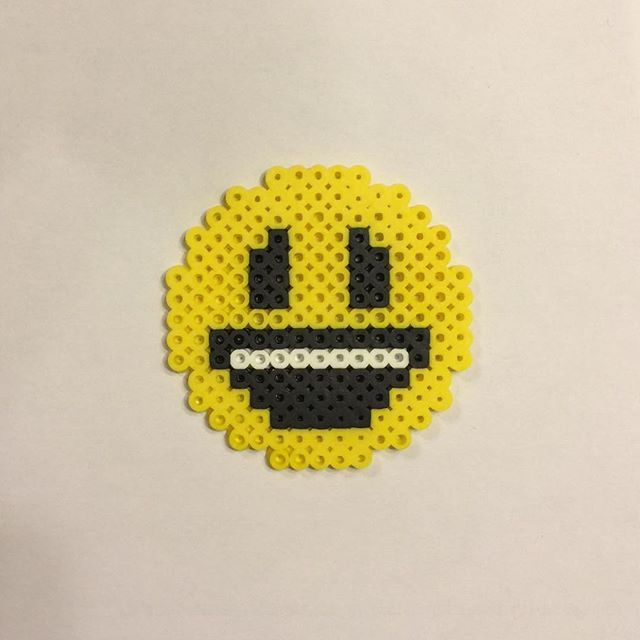 Emoji perler beads by invisible_carrott