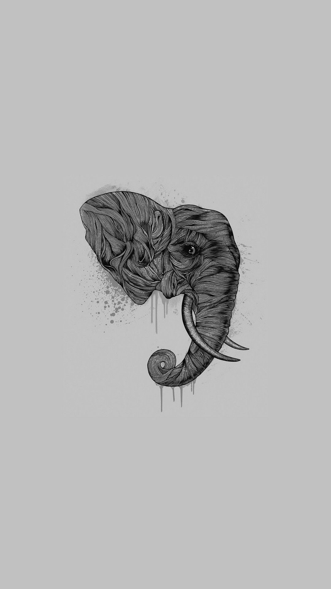 Elephant iphone wallpaper tumblr - Elephant Art Ddark Illust Drawing Animal Iphone 6 Plus Wallpaper