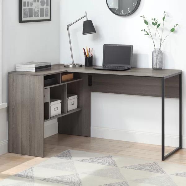 Joziah L Shaped Desk In 2020 Under Desk Storage L Shaped Office Desk L Shaped Desk