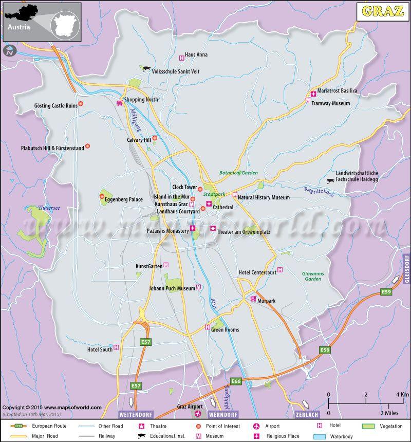 Map of Graz Austria New Maps Pinterest Graz Graz austria