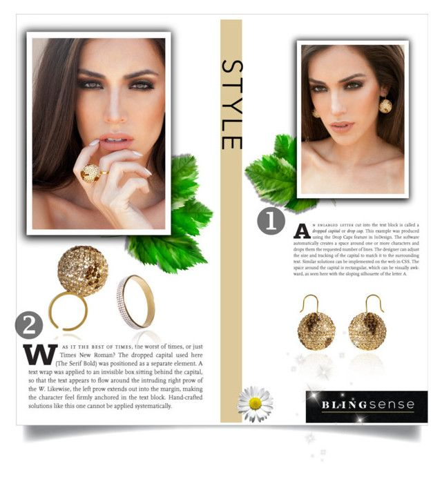 """""""Blingsense"""" by kenn01 ❤ liked on Polyvore featuring jewelry and blingsense"""