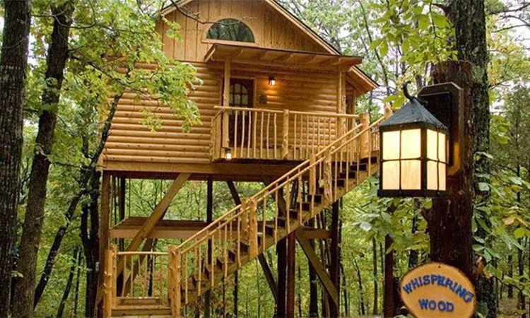 Whispering Wood Treehouse Tree House Treehouse Cottages Eureka Springs Treehouse