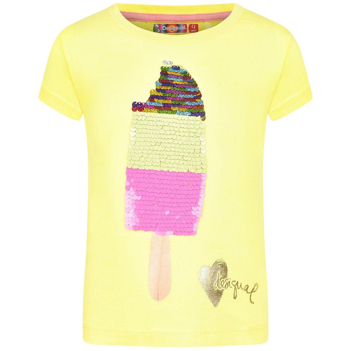desigual girls yellow reversible sequin lolly top ting jeg vil k be pinterest sequins and. Black Bedroom Furniture Sets. Home Design Ideas