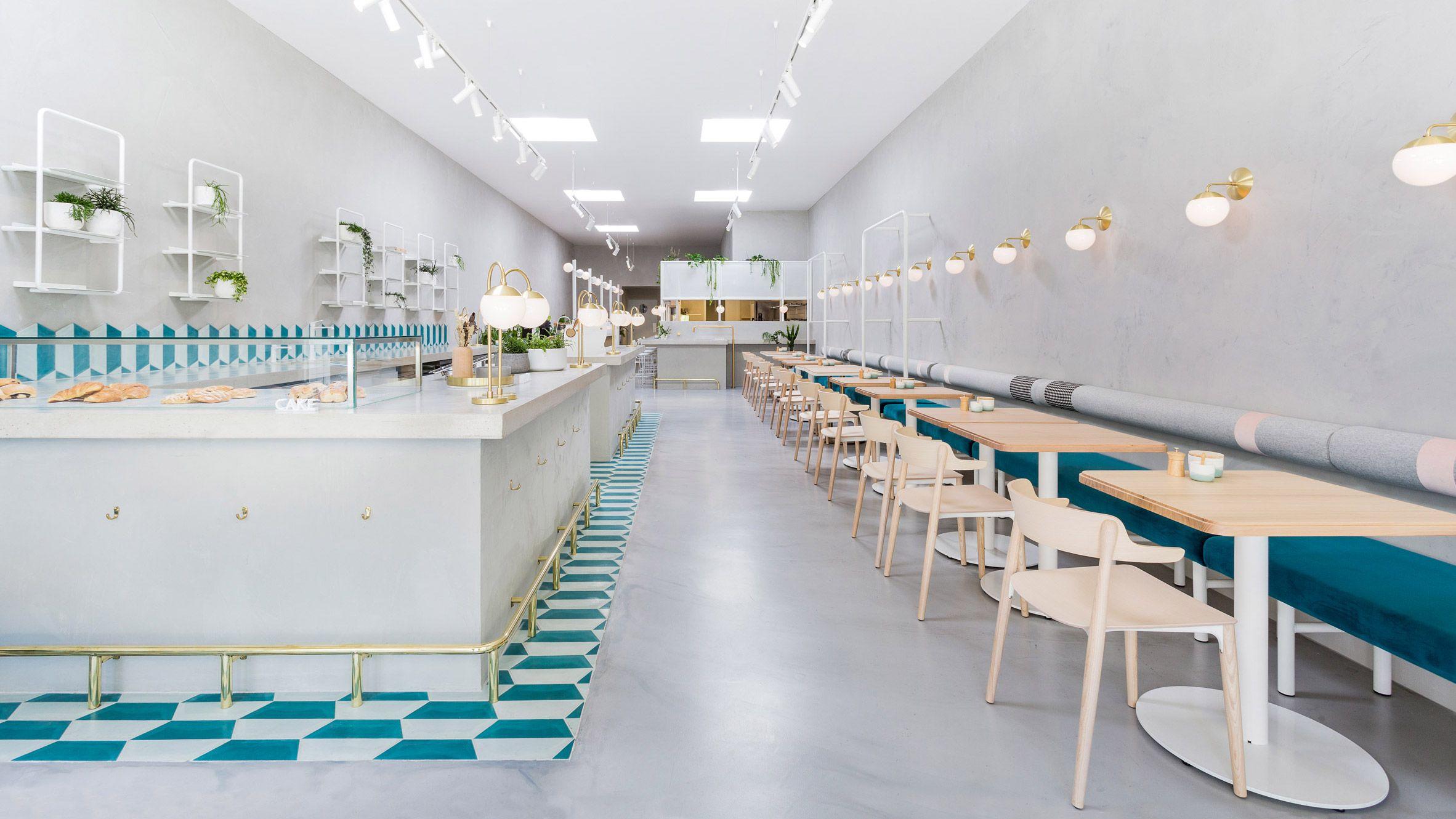 Biasol Creates Melbourne Cafe Interior Based On 1950s Greek Delicatessens Cafe Interior Design Restaurant Design Hospital Interior Design