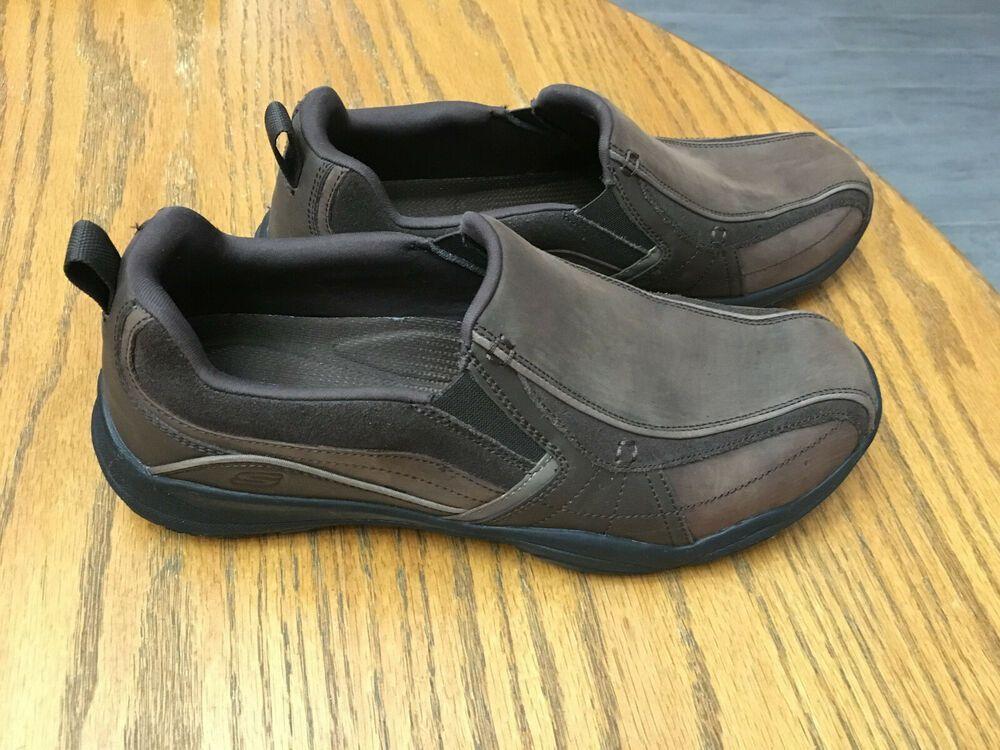 Men S Skechers Larson Berto Slip On Loafer Shoes 10 Memory Foam