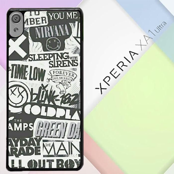 Coldplay Nirvana 5SOS And Etc Band Collage iphone case