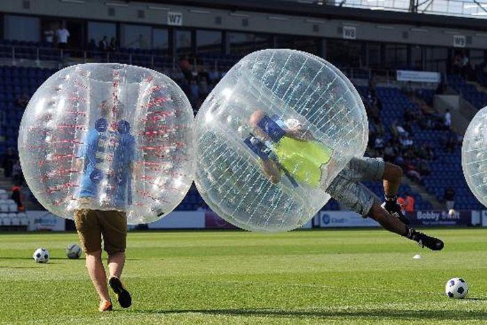 Fitness-Kleingeräte & -Zubehör Gymnastikbälle Yaekoo Pvc Transparent 5 Feet 1.5M Diameter Inflatable Bumper Ball Human Knocker