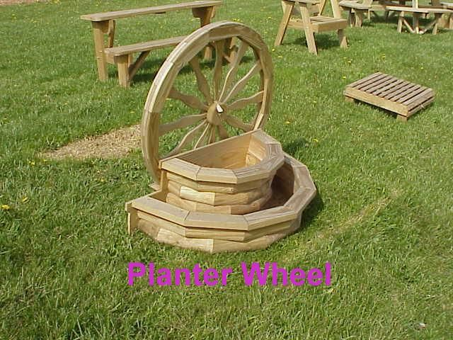 Wagon Wheel Planter Woodworking Patterns Pinterest Planters
