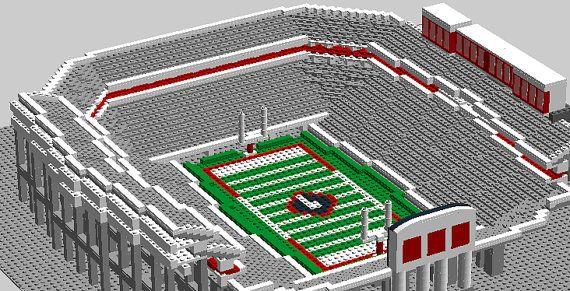 Georgia Sanford Football Stadium Brick Model Legos