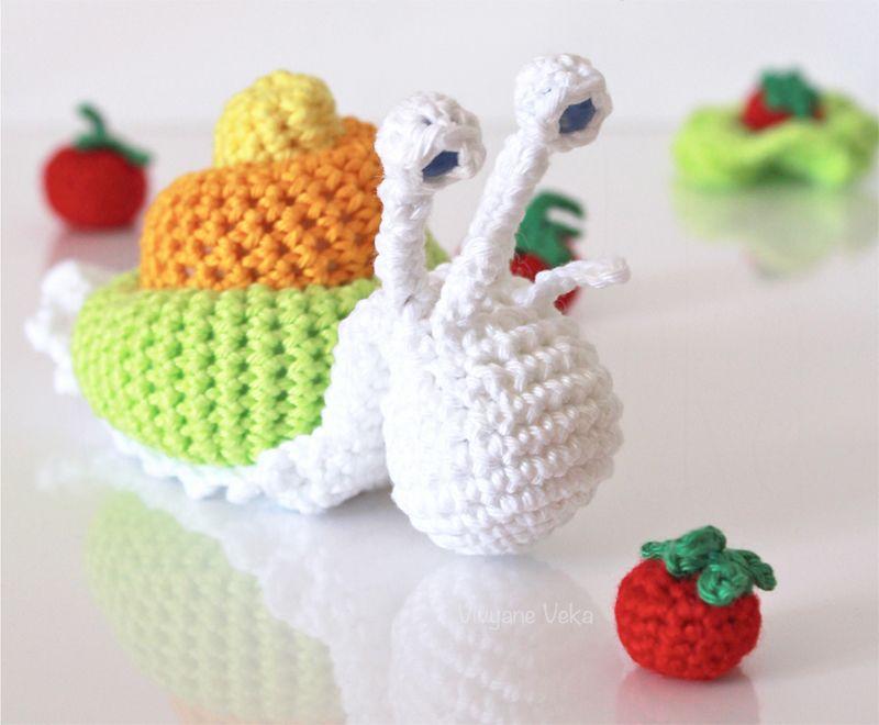 Tutorial Amigurumi : Amigurumi escargot au crochet et tutoriel crochet crochet snail