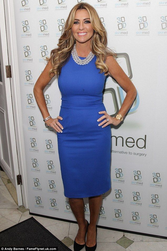 Glam girl: The event was to mark the launch of 3D-Skinmed, dubbed as a 'facelift without surgery', which reality TV star Dawn Ward is an ambassador for