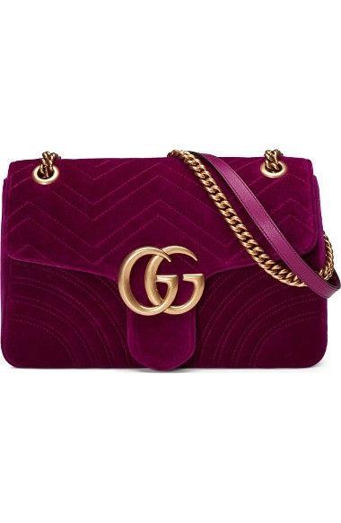 ff0896e3af22b5 GUCCI Medium Gg Marmont 2.0 Matelassé Velvet Shoulder Bag. #gucci #bags #shoulder  bags #hand bags #silk #velvet #lining #